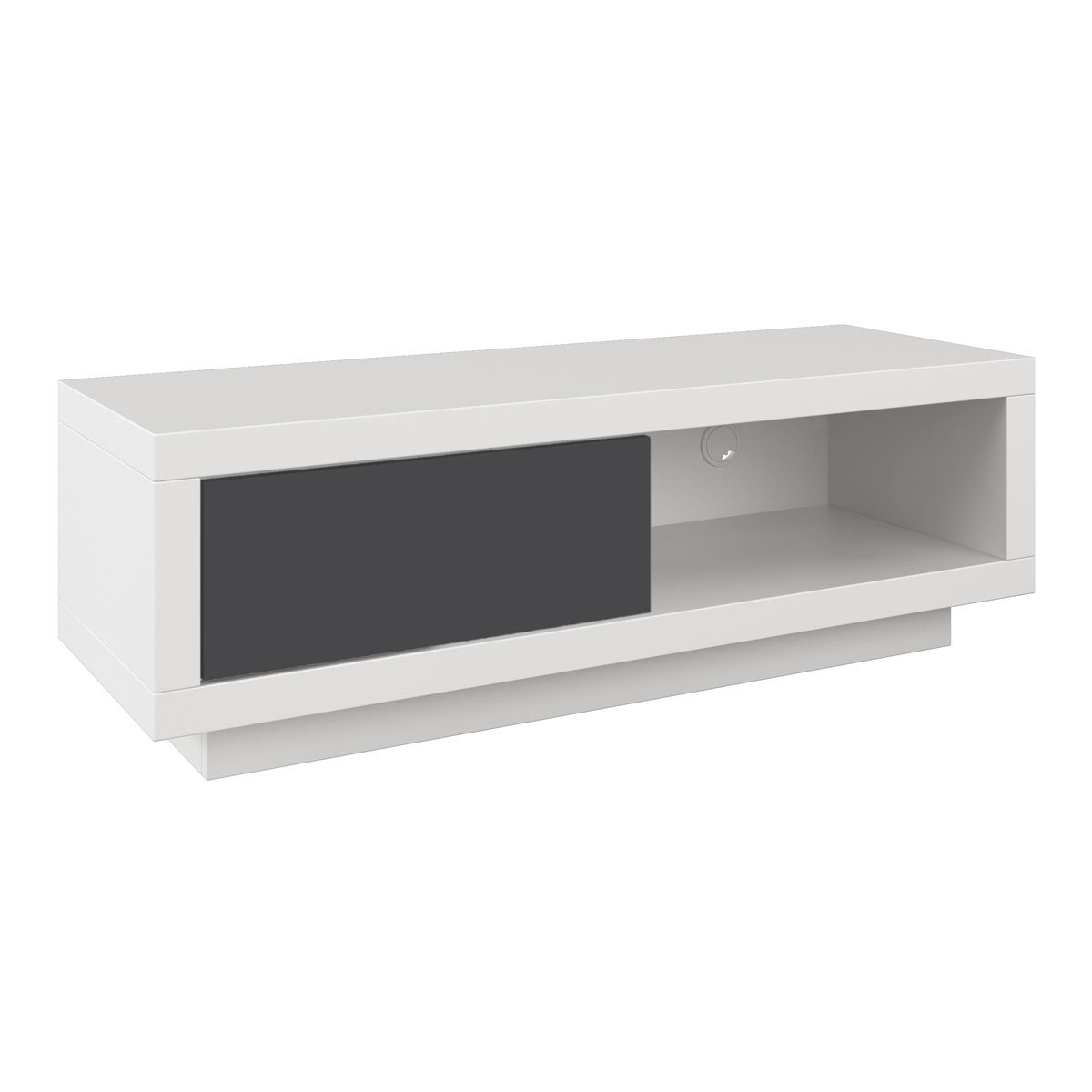 schnepel varic l blanc avec clapet meuble tv schnepel sur ldlc. Black Bedroom Furniture Sets. Home Design Ideas