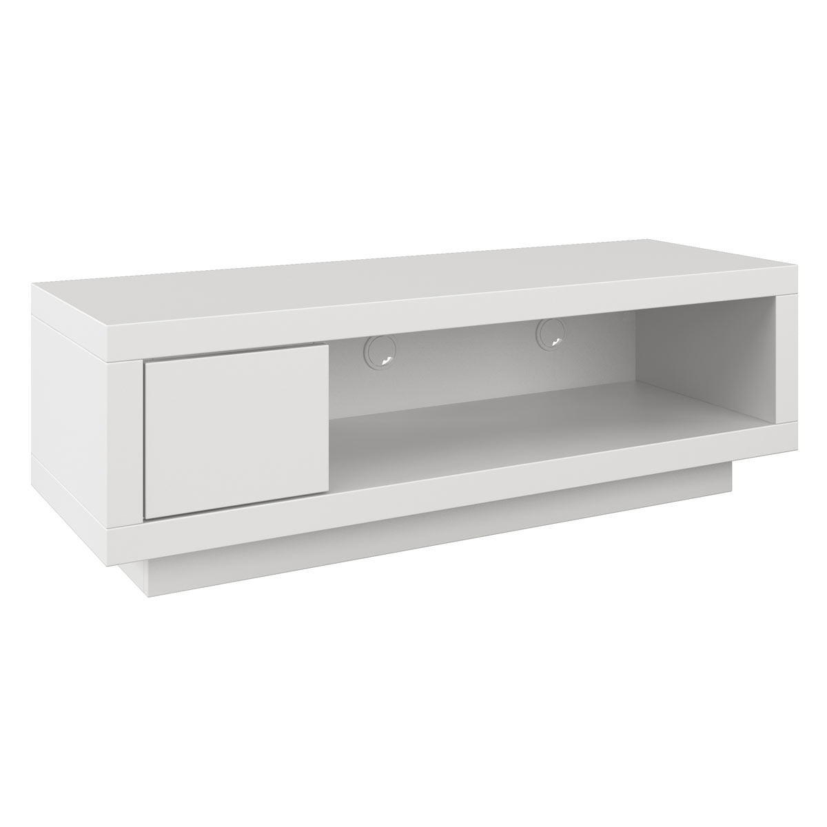 Schnepel varic l blanc avec tiroir meuble tv schnepel for Chevet mural avec tiroir