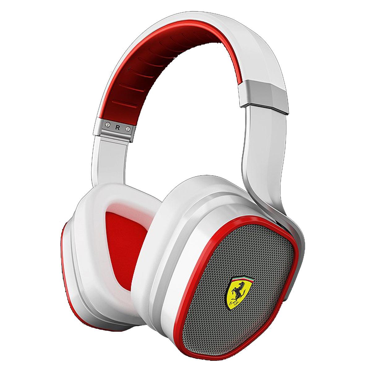Casque Ferrari R300 Blanc Casque circum-auriculaire fermé à réduction active