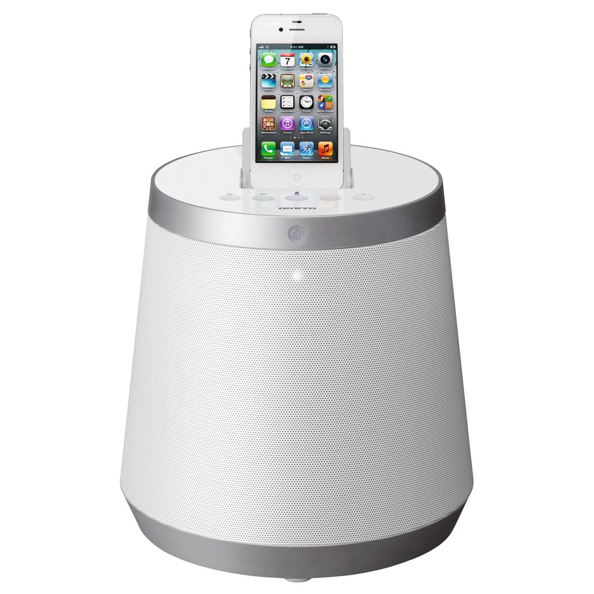 Onkyo rbx 500 blanc dock enceinte bluetooth onkyo sur ldlc - Enceinte iphone ipad ...