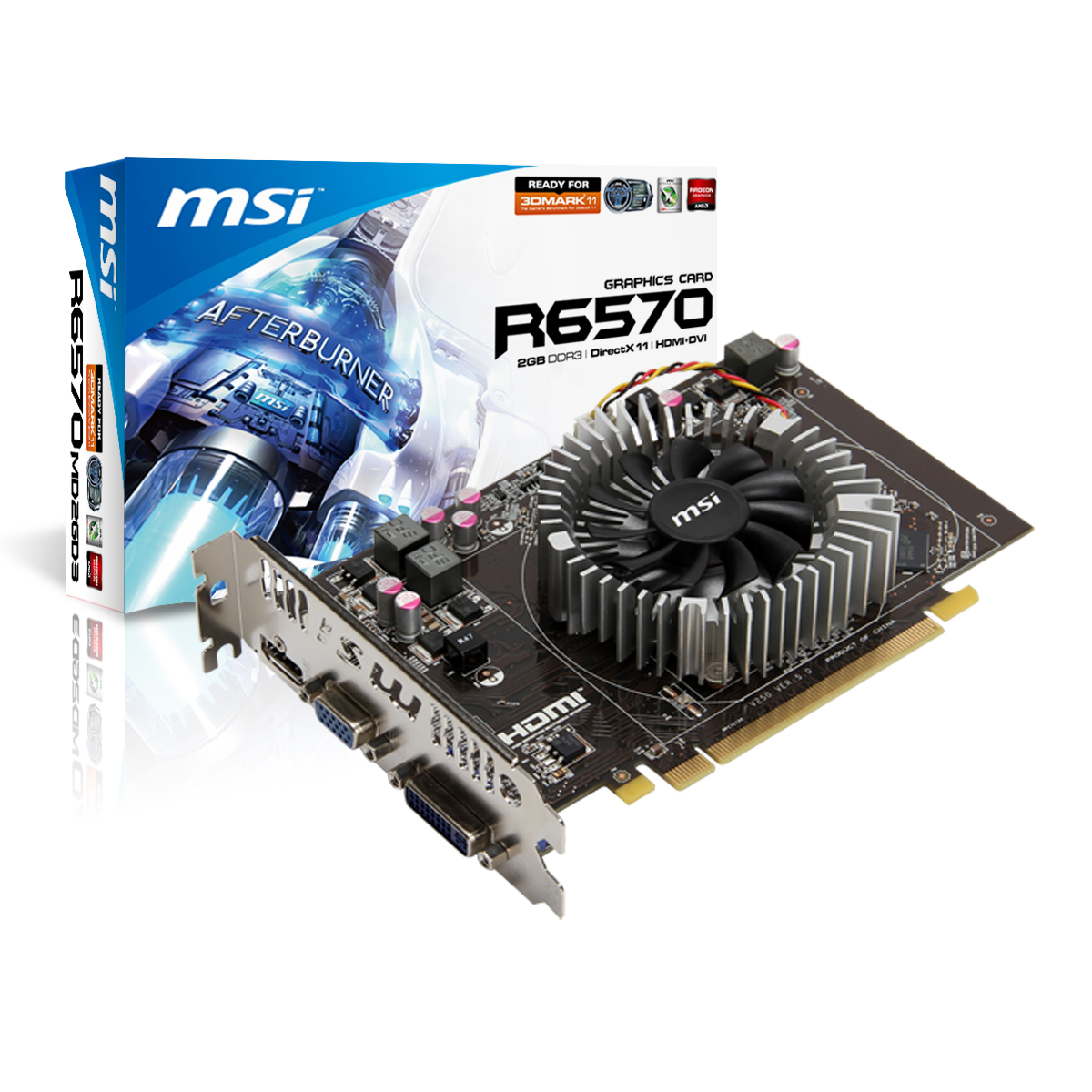 Carte graphique MSI R6570-MD2GD3 2 Go 2 Go HDMI/DVI - PCI Express (AMD Radeon HD 6570)