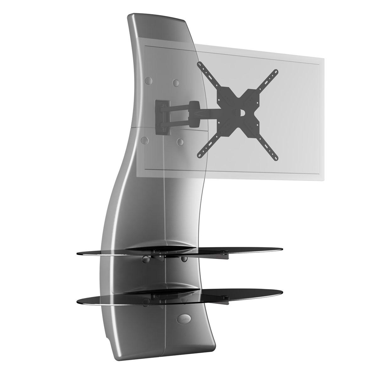 meliconi ghost design 2000 rotation argent meuble tv meliconi sur ldlc. Black Bedroom Furniture Sets. Home Design Ideas