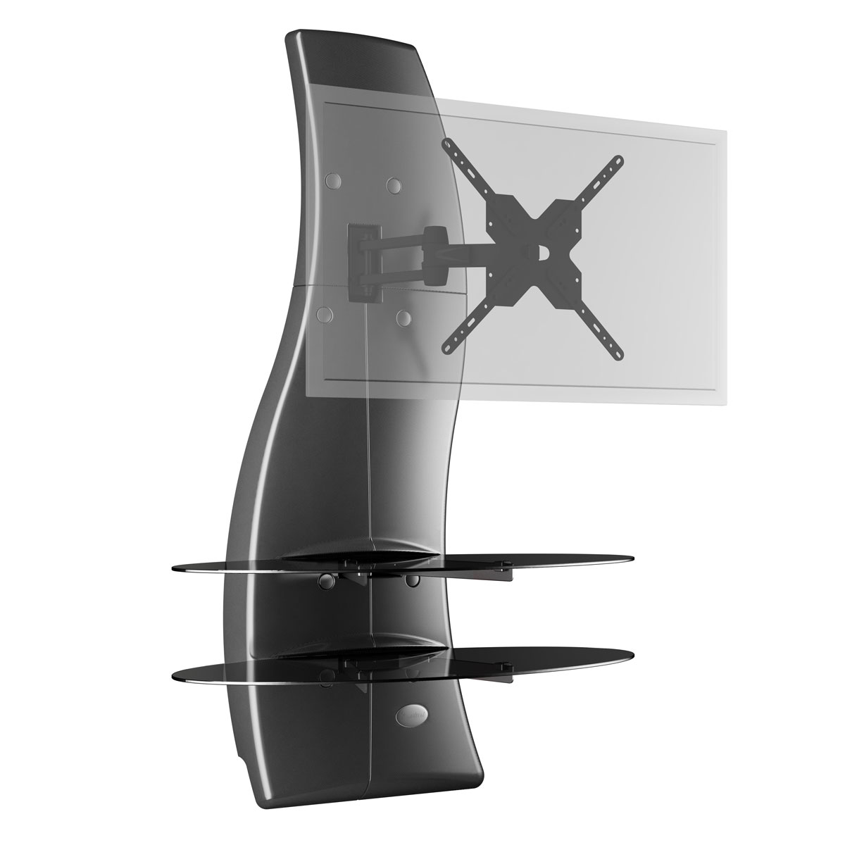 Meliconi ghost design 2000 rotation carbone meuble tv meliconi sur ldlc - Support tv mural design ...