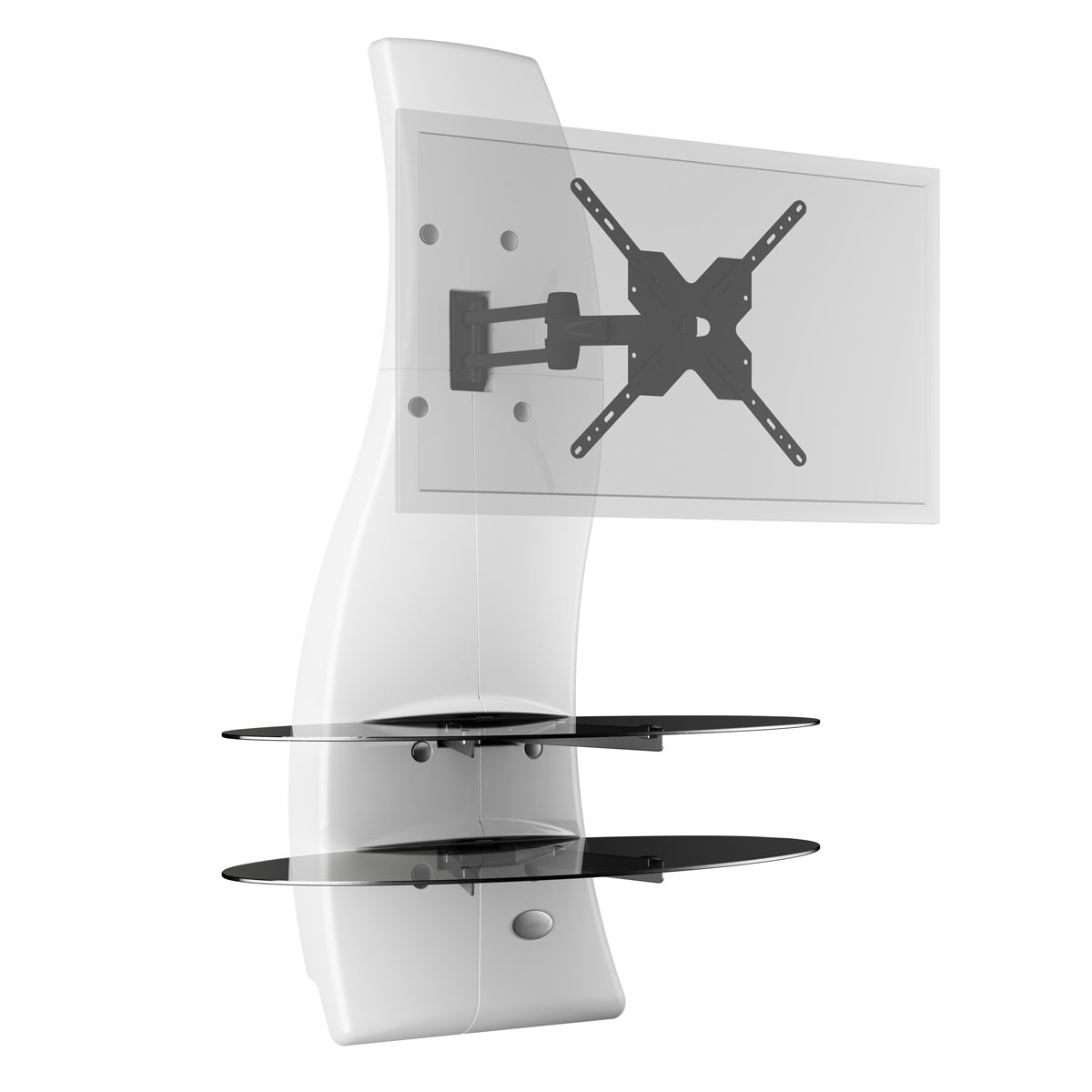 Meliconi ghost design 2000 rotation blanc meuble tv meliconi sur ldlc - Meuble tv support mural ...