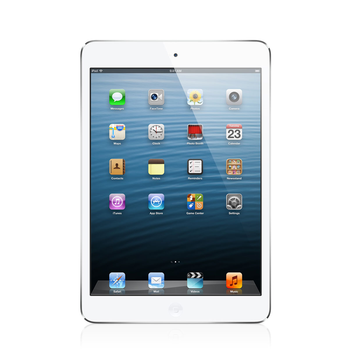 apple ipad mini wi fi 16 go blanc et silver tablette. Black Bedroom Furniture Sets. Home Design Ideas