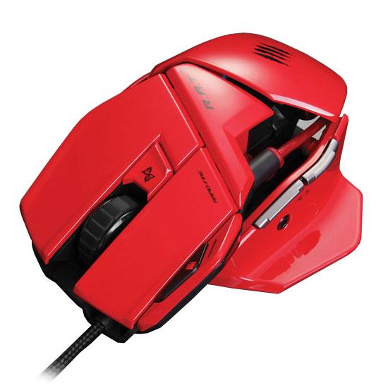 Souris PC Mad Catz R.A.T. 3 (RAT 3) Red Souris filaire pour gamer - droitier - capteur laser 3500 dpi - 5 boutons programmables