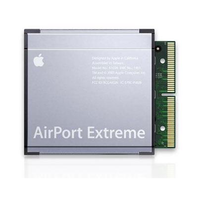 Accessoires Apple Apple Carte AirPort Extreme Wi-Fi MB988ZM/A Carte sans fil Wi-Fi N pour Mac Pro