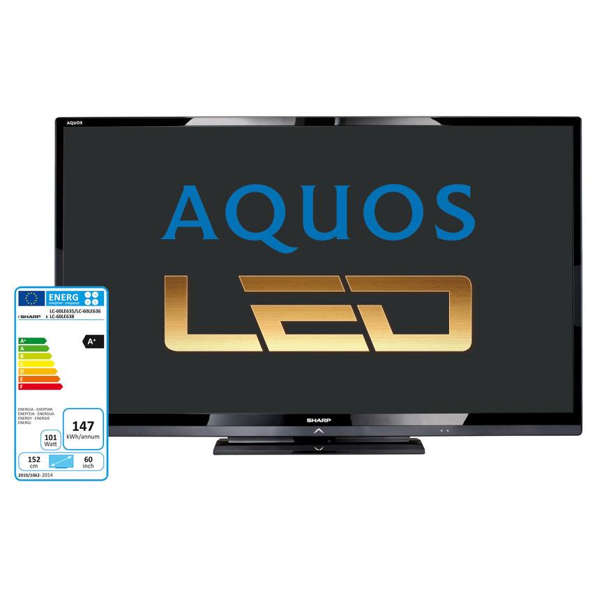 Sharp lc 60le635 lc60le635 achat vente tv sur for Meuble tv wifi