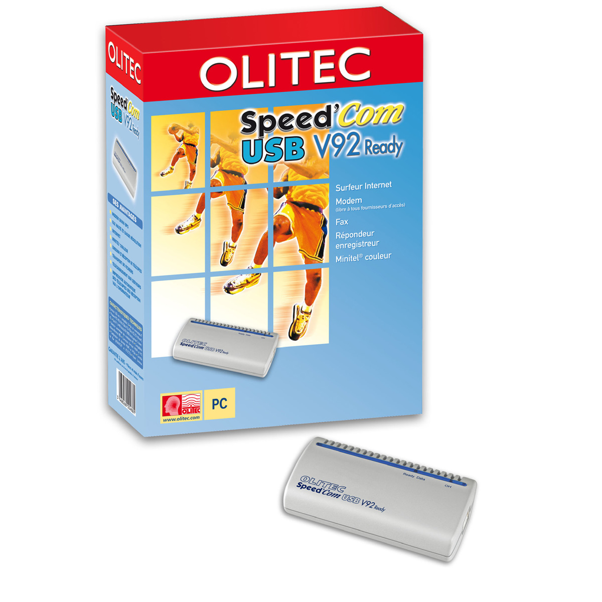 Modem & routeur Olitec Speed'Com USB V92 Ready V4 Olitec Speed'Com USB V92 Ready V4