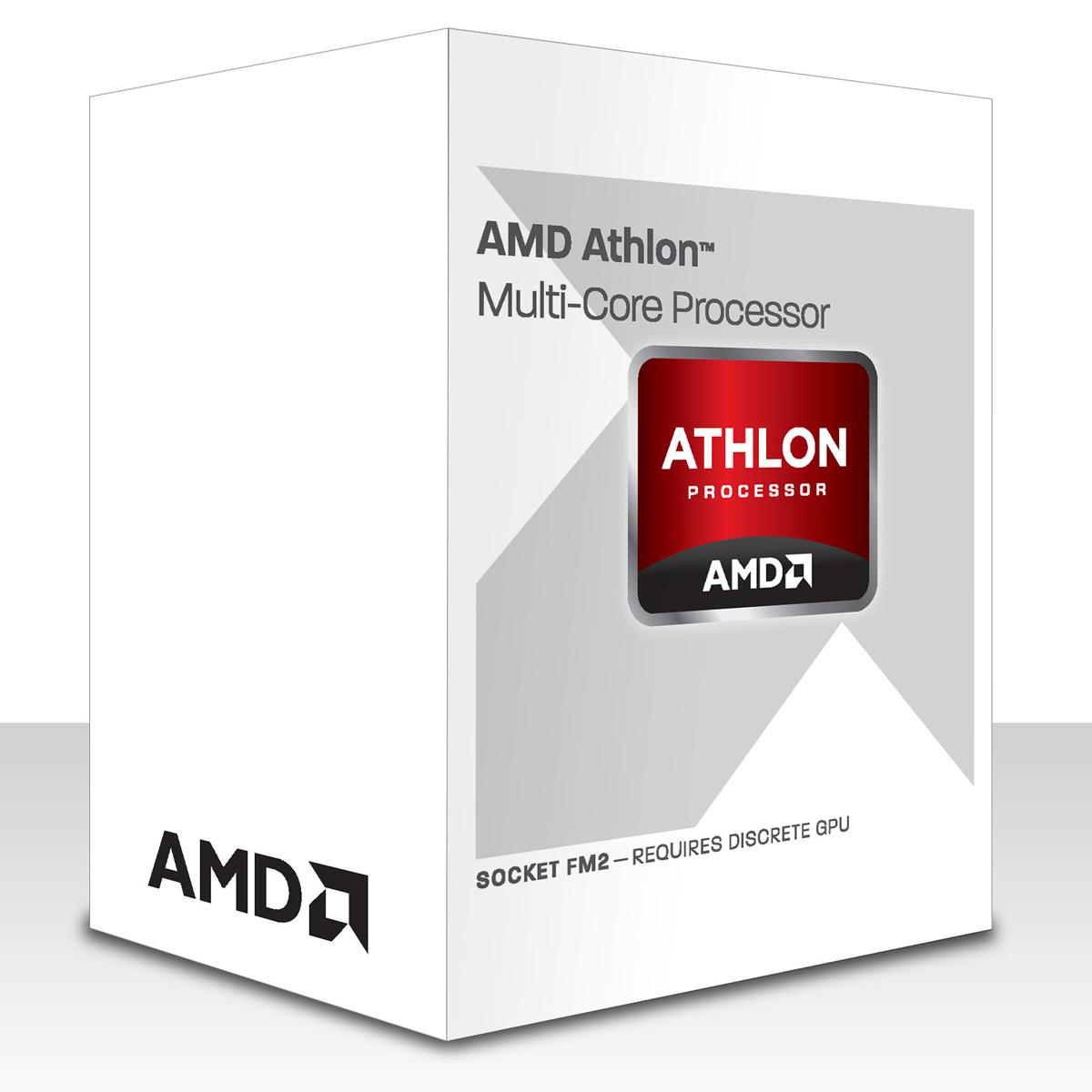 Processeur AMD Athlon X4 740 (3.2 GHz) Processeur Quad Core Socket FM2 0.032 micron Cache L2 4 Mo (version boîte - garantie constructeur 3 ans)