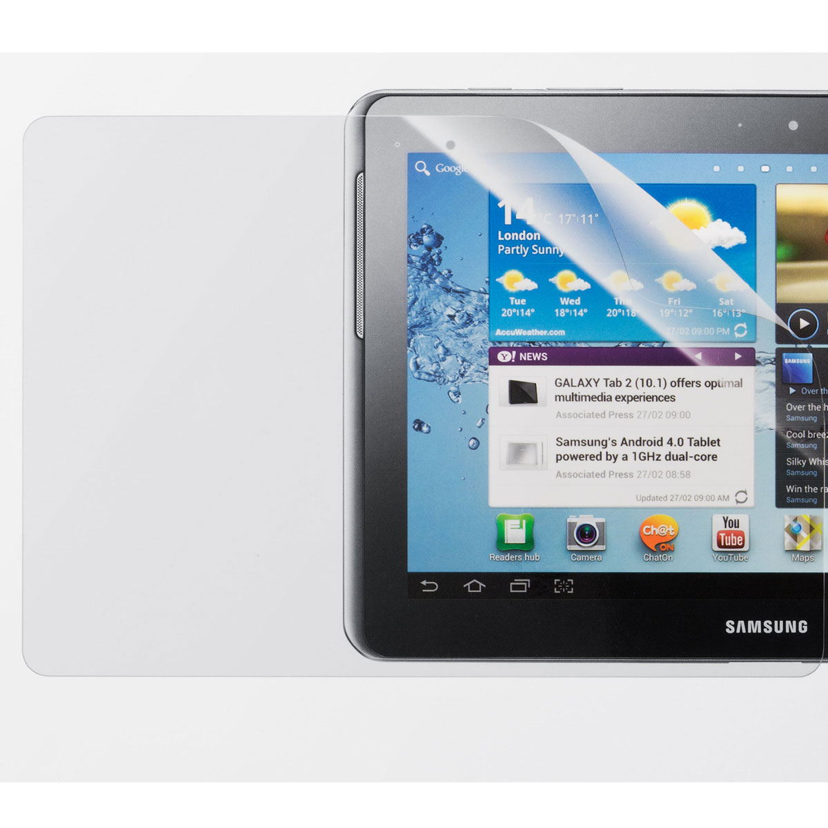 samsung protection d 39 cran pour tablettes samsung galaxy. Black Bedroom Furniture Sets. Home Design Ideas