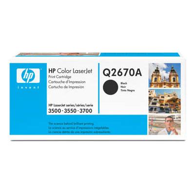 Toner imprimante HP Q2670A Toner Noir (6 000 pages à 5%)