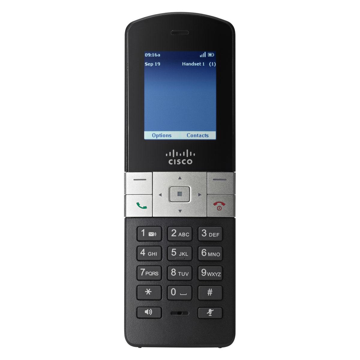Téléphone sans fil Cisco Small Business SPA302D Combiné téléphonique sans fil DECT pour installation VoIP