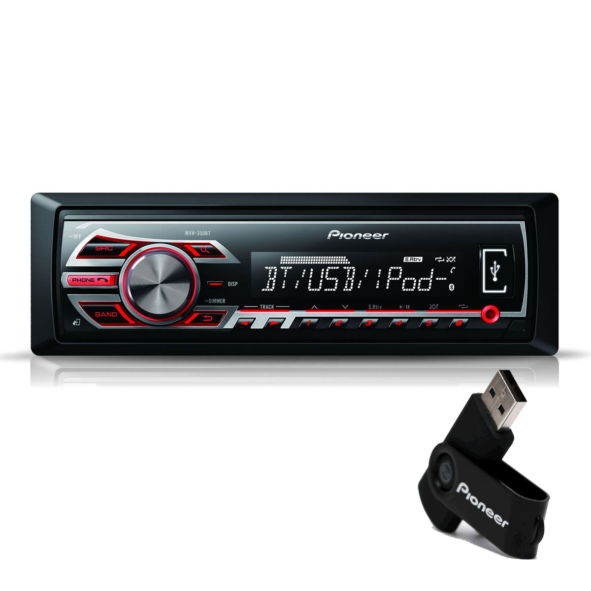 pioneer mvh 350bt cl usb 8 go autoradio pioneer sur ldlc. Black Bedroom Furniture Sets. Home Design Ideas