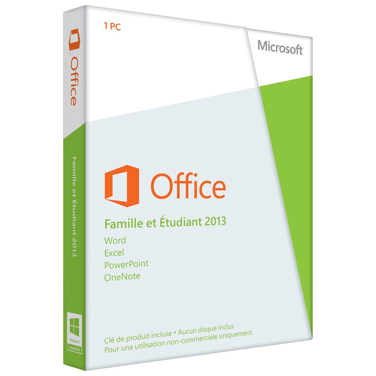 Microsoft office famille et etudiant 2013 79g 03603 achat vente logiciel suite bureautique - Cle activation office 365 famille premium ...