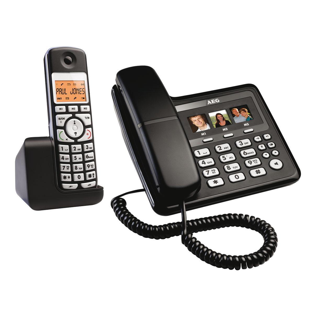 aeg voxtel s110 combo t l phone sans fil aeg sur ldlc. Black Bedroom Furniture Sets. Home Design Ideas