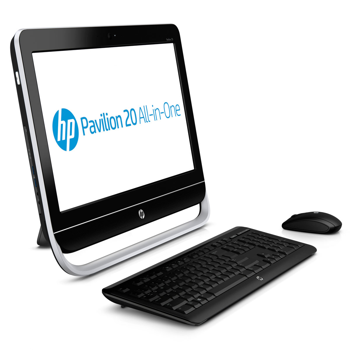 "PC de bureau HP Pavilion 20-b120ef (D2M53EA) AMD Double-Coeur E1-1200 6 Go 1 To LED 20"" Graveur DVD Wi-Fi N Webcam Windows 8 64 bits"