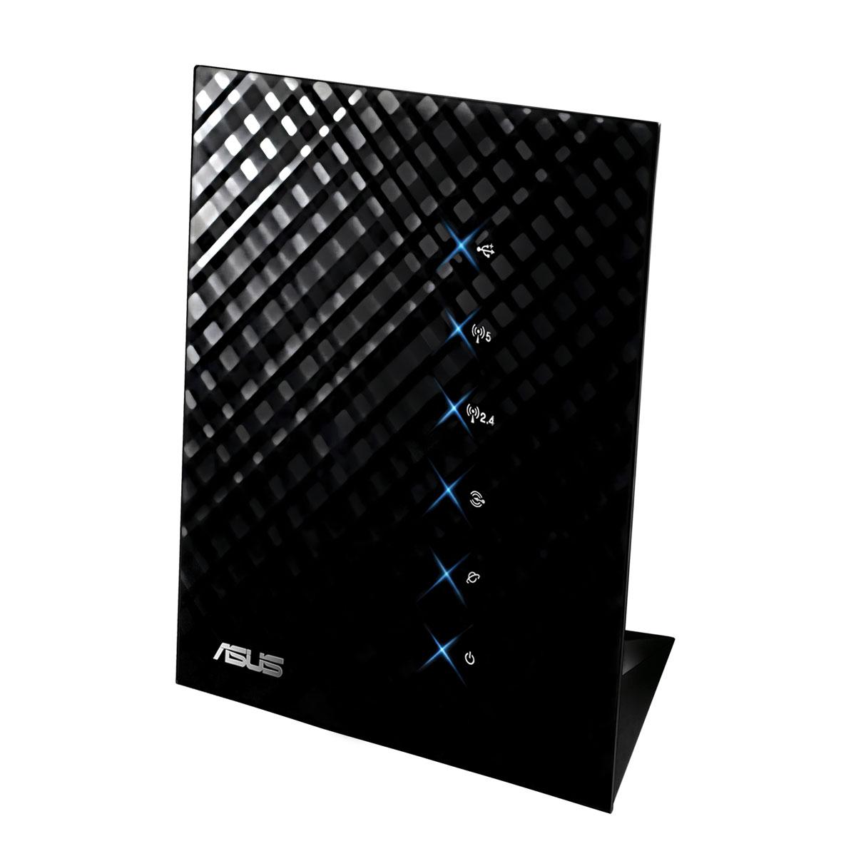Modem & routeur ASUS RT-N56U Routeur sans fil WiFi Dual Band 802.11n 300 + 300 Mbps + 4 ports LAN 10/100/1000 Mbps