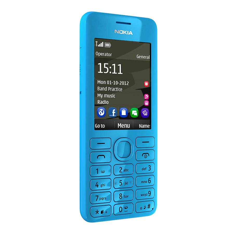 """Mobile & smartphone Nokia 206 Double SIM Cyan Téléphone 2G avec écran 2.4"""" Dual Sim"""
