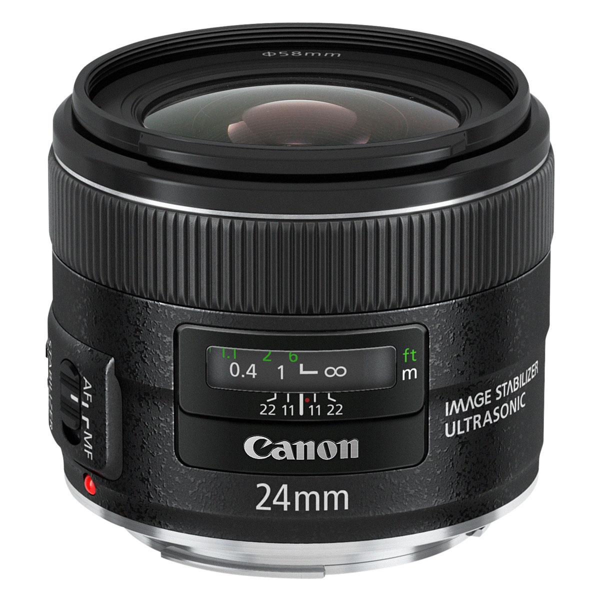 Objectif appareil photo Canon EF 24 mm f/2,8 IS USM Objectif grand-angle stabilisé