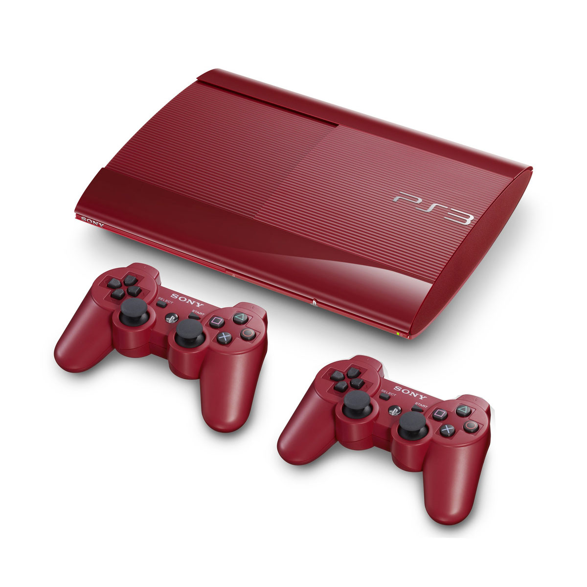 Sony playstation 3 ultra slim 500 go rouge 2 manettes sony computer entertainment - Console ps3 500 go pas cher ...