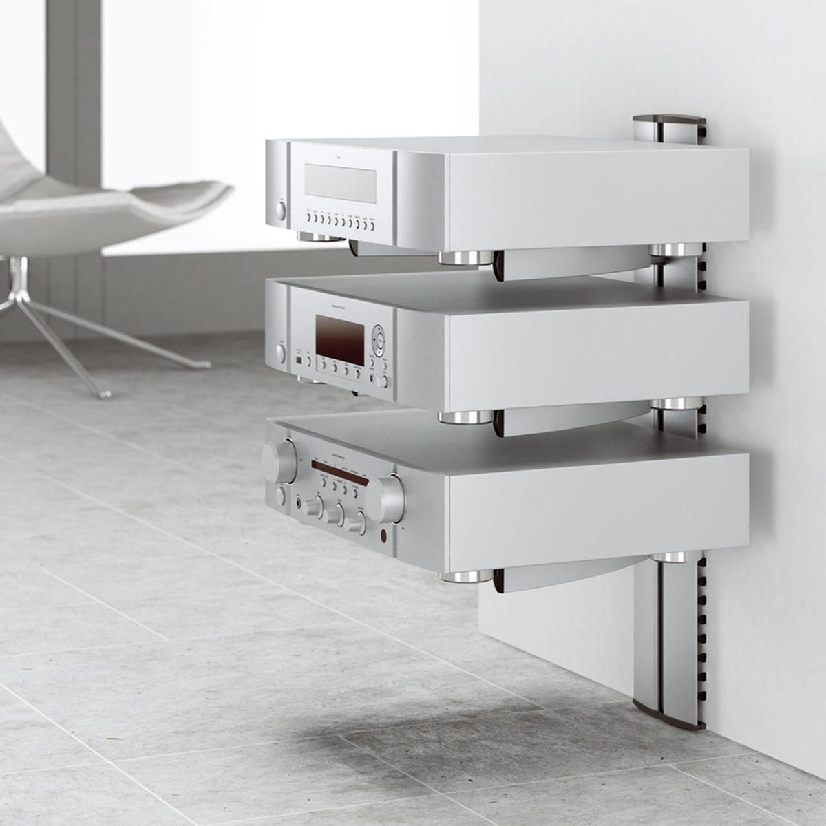 Etagere hifi for Meuble mural audio video