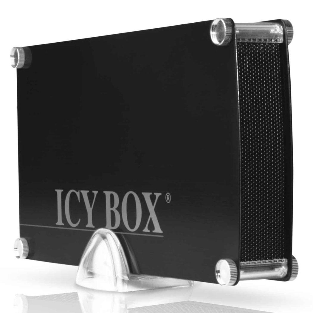 """Boîtier disque dur ICY BOX IB-351StU3S-B Boîtier externe 3.5"""" sur port USB 3.0 / eSATA (coloris noir)"""