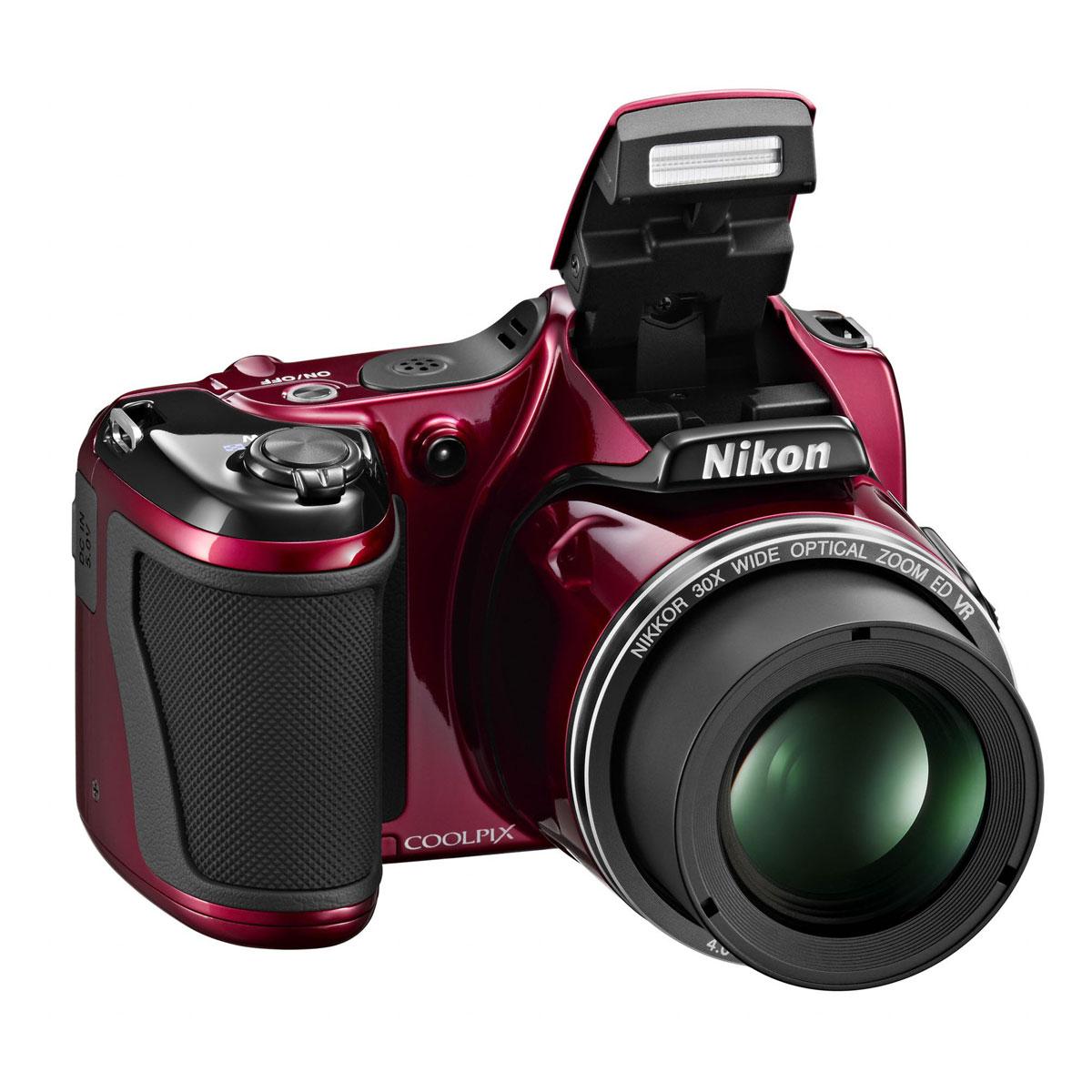 Appareil photo numérique Nikon Coolpix L820 Rouge Appareil photo 16 MP - Zoom grand-angle 30x - Vidéo Full HD