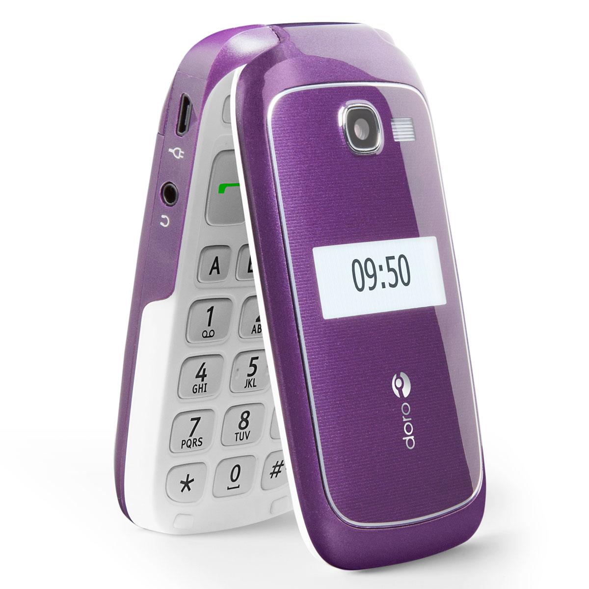 Doro phoneeasy 615 violet mobile smartphone doro sur ldlc - Telephone portable doro pas cher ...