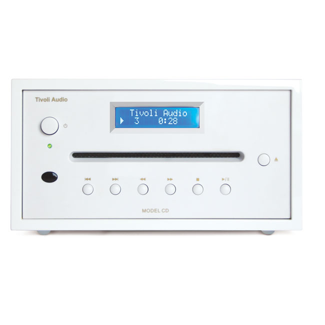 Tivoli audio model cd blanc laqu platine cd tivoli audio sur ldlc - Range cd blanc laque ...