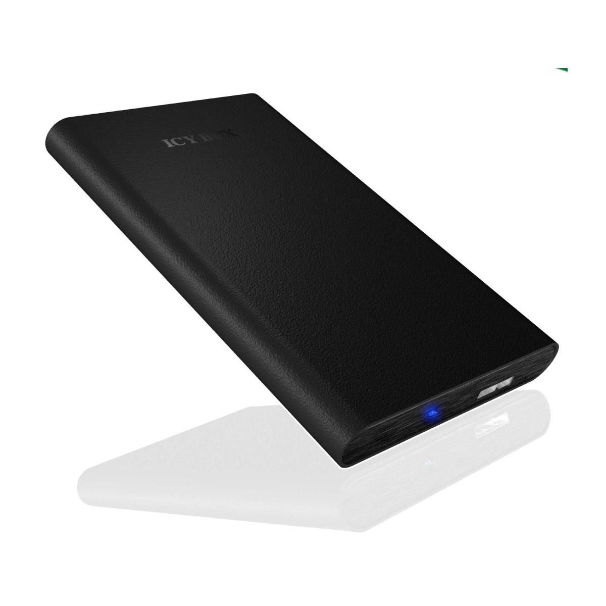 """Boîtier disque dur ICY BOX IB-268StU3-B Boîtier externe 2""""1/2 sur port USB 3.0 (noir)"""