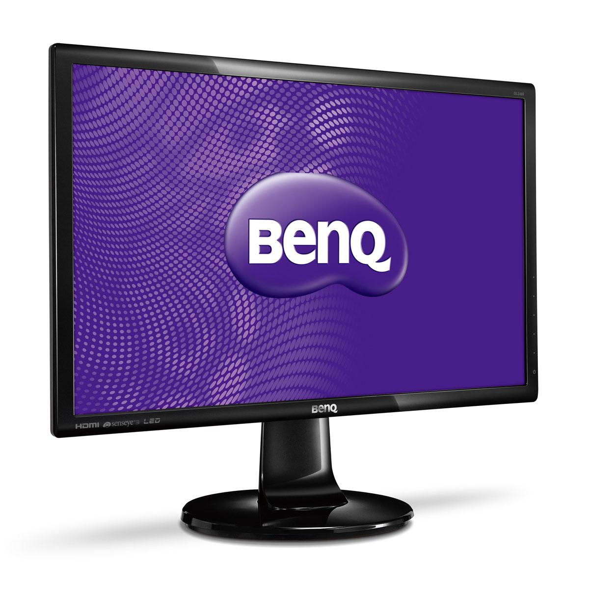 """Ecran PC BenQ 24"""" LED - GL2460HM 1920 x 1080 pixels - 2 ms (gris à gris) - Format large 16/9 - Noir"""
