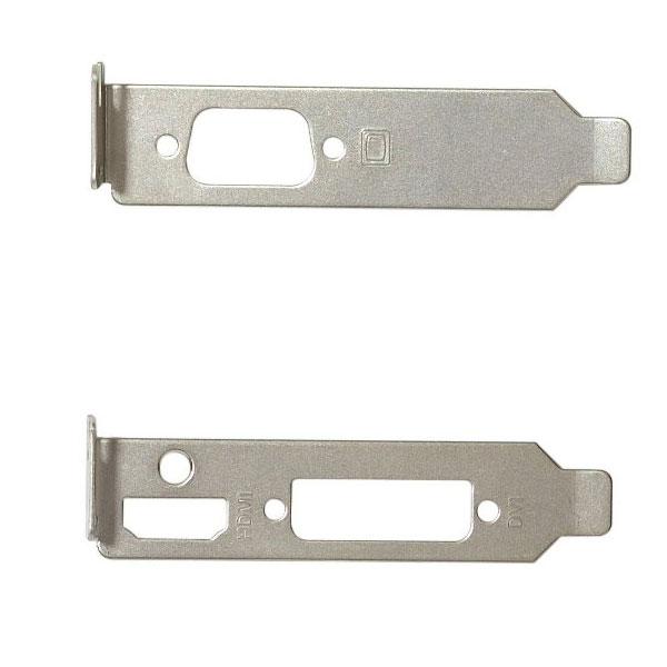 Accessoires divers boîtier Equerre PCI Low Profile pour carte graphique (HDMI/DVI/VGA) Support de montage PCI demi-hauteur pour carte graphique