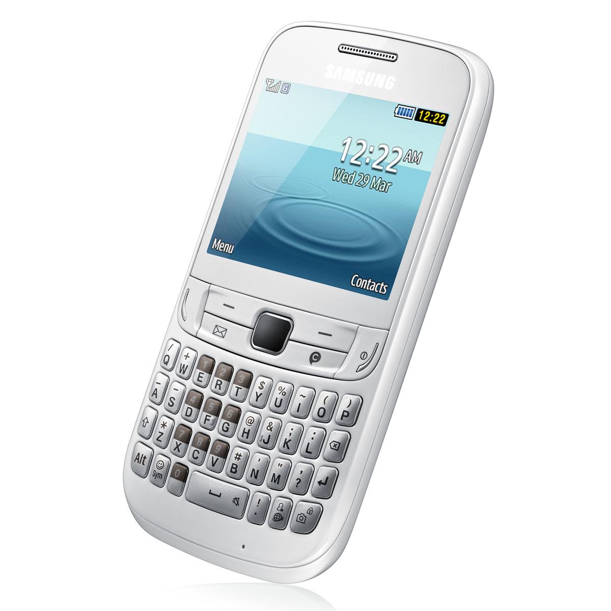 samsung ch t 357 gt s3570 blanc mobile smartphone. Black Bedroom Furniture Sets. Home Design Ideas