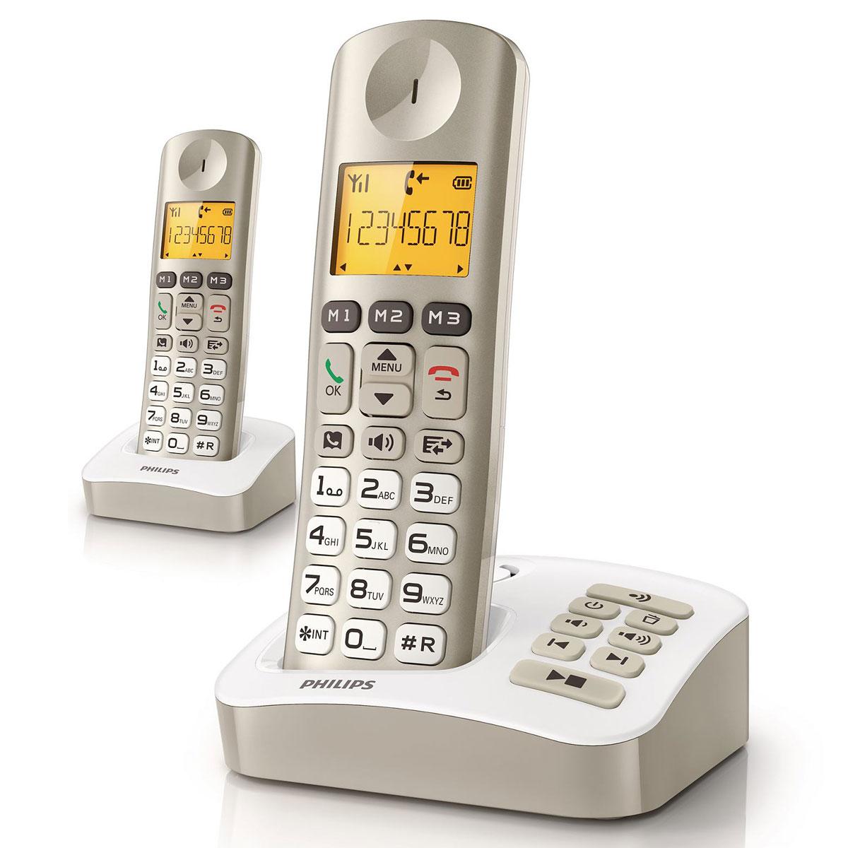 philips xl305 duo perle t l phone sans fil philips sur ldlc. Black Bedroom Furniture Sets. Home Design Ideas