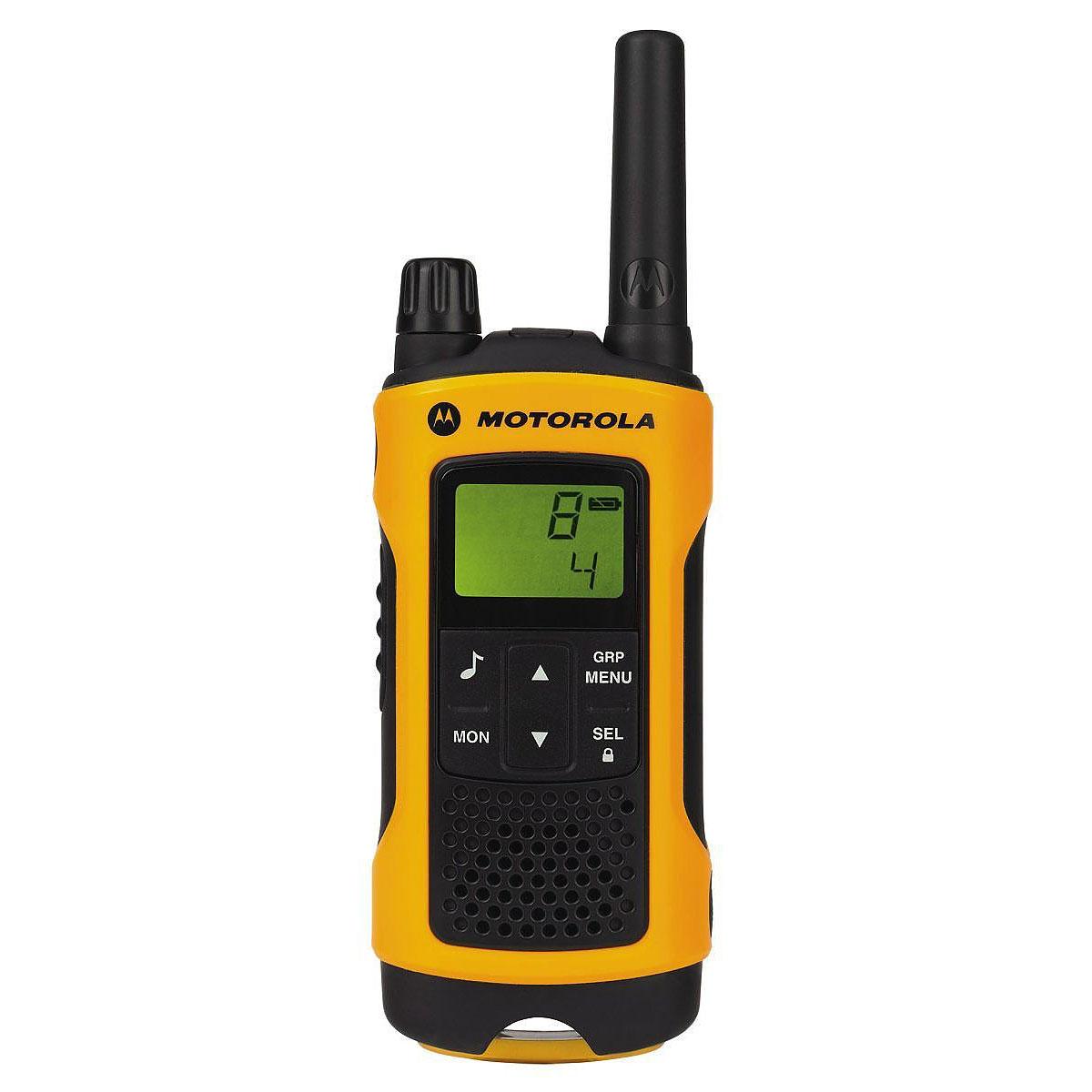 Talkie walkie Motorola TLKR T80 Jaune/noir Pack de 2 Talkie-Walkies portée 10 km