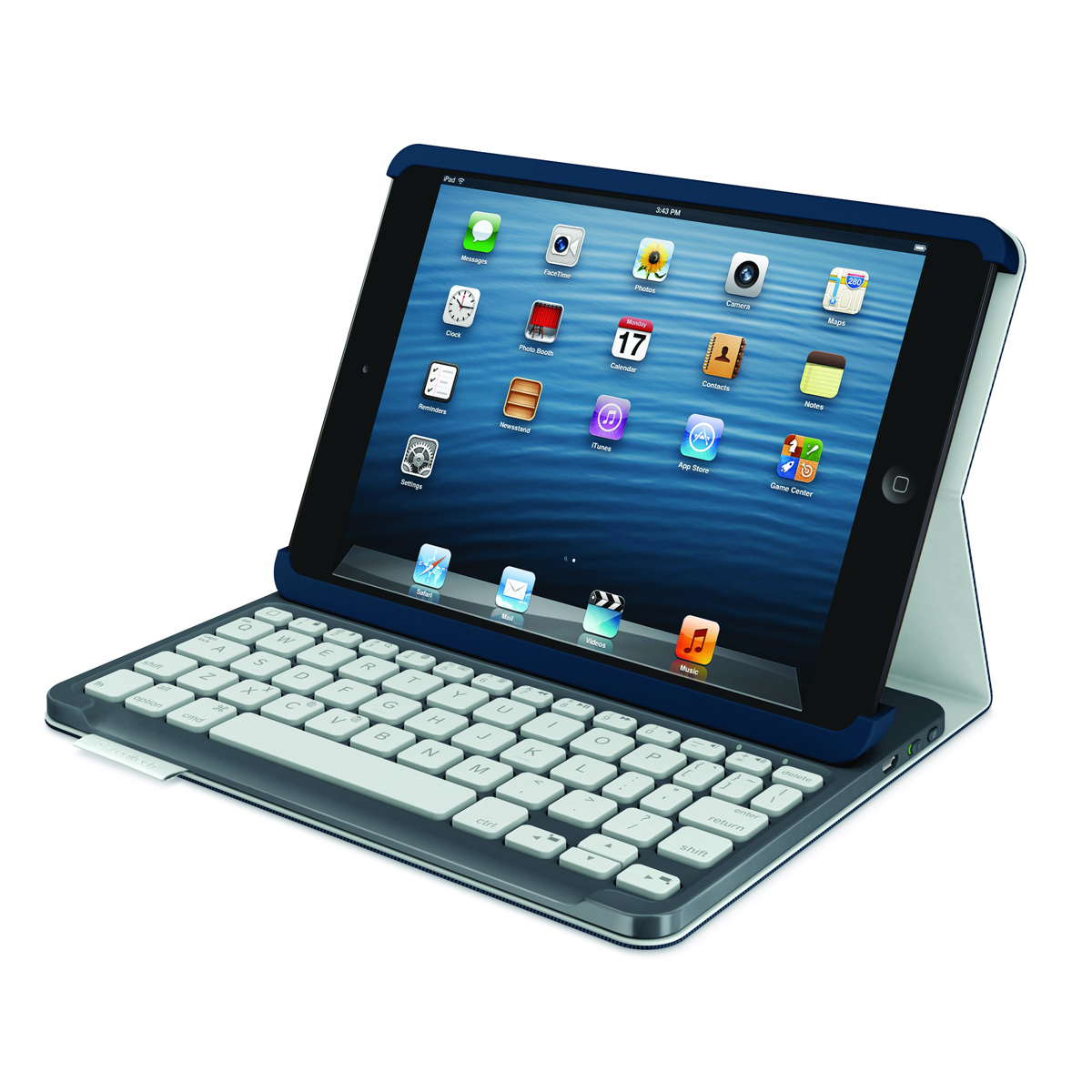 logitech keybord folio for ipad mini mysticblue. Black Bedroom Furniture Sets. Home Design Ideas