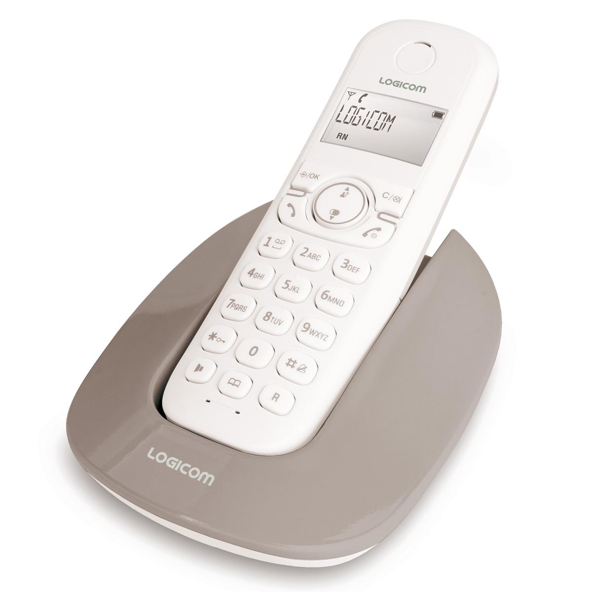 logicom manta 150 taupe manta 150 taupe achat vente t l phone sans fil sur. Black Bedroom Furniture Sets. Home Design Ideas