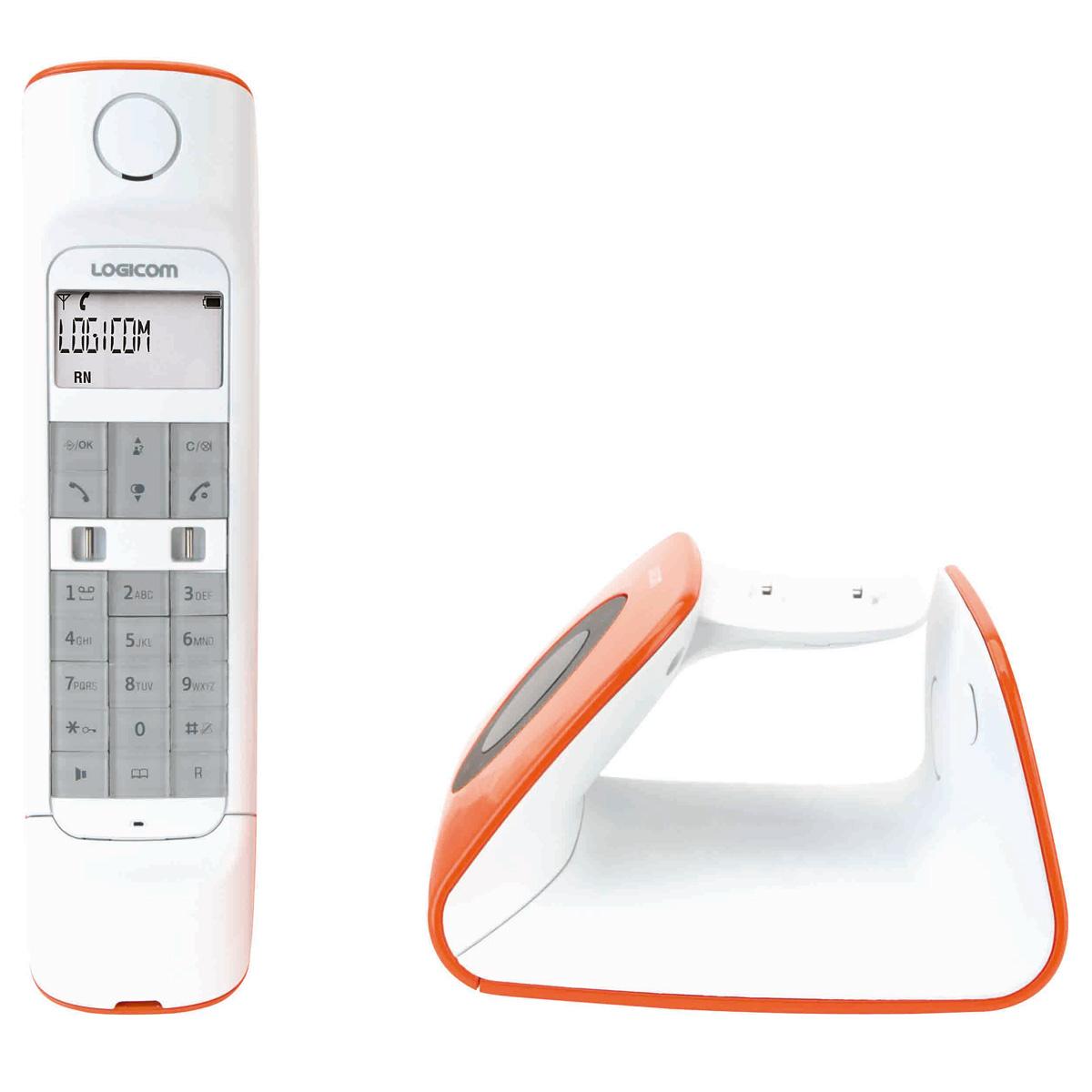 logicom r tro orange t l phone sans fil logicom sur ldlc. Black Bedroom Furniture Sets. Home Design Ideas