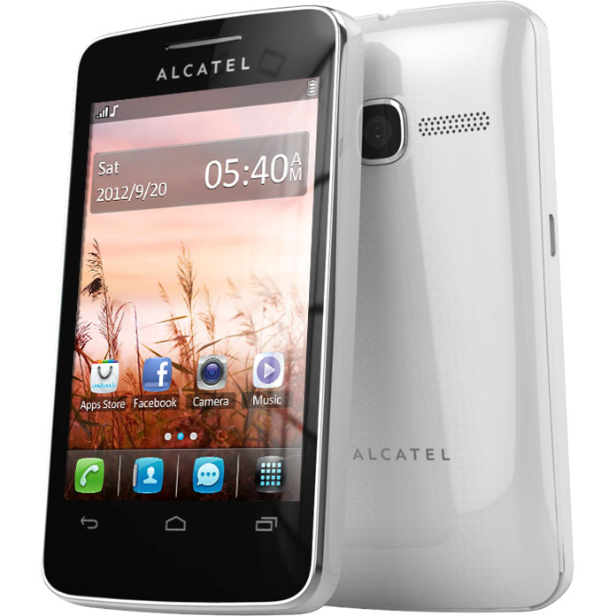 alcatel 3040d pure white mobile smartphone alcatel sur ldlc. Black Bedroom Furniture Sets. Home Design Ideas