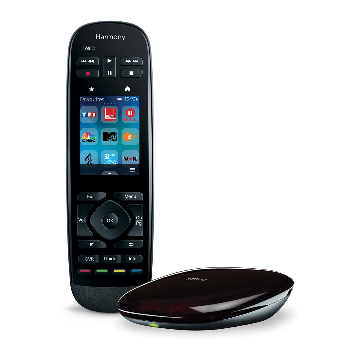 Télécommande Logitech Harmony Ultimate Télécommande universelle avec écran tactile avec récepteur RF - 15 appareils supportés (compatible smartphone iOS et Android)