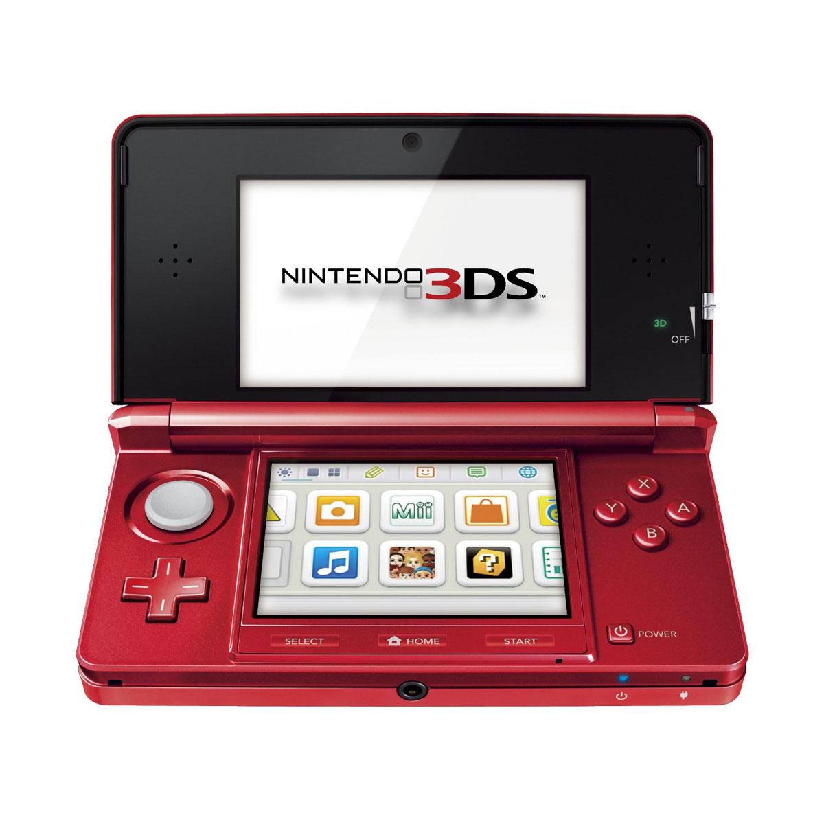 Console de jeux Nintendo 3DS Rouge Métal Nintendo 3DS Rouge Métal