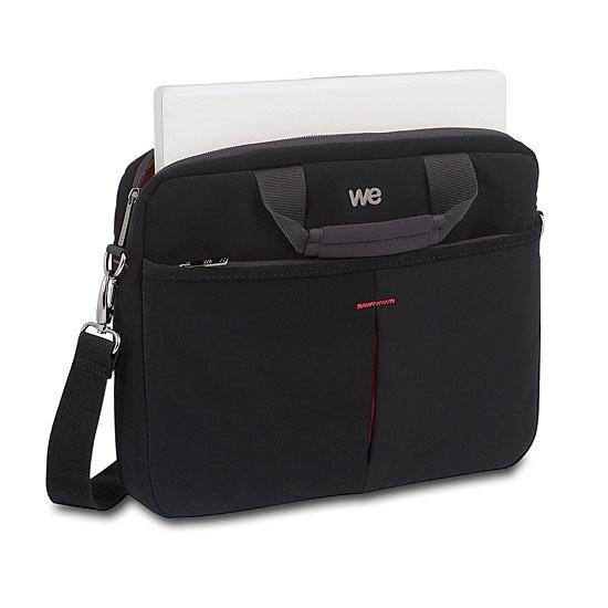 W e luxury 17 3 noir rouge sac sacoche housse w e sur ldlc - Tuto sac ordinateur portable ...