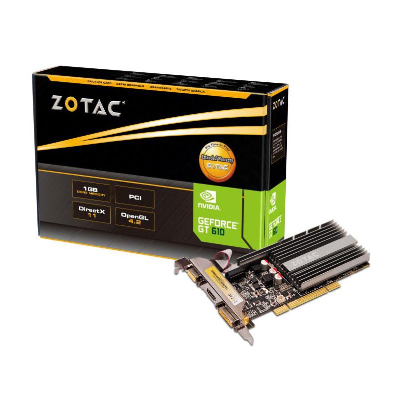 Carte graphique ZOTAC GeForce GT 610 PCI 1 GB 1024 Mo HDMI/DVI - PCI (NVIDIA GeForce avec CUDA GT 610)