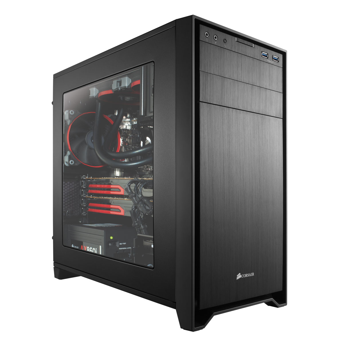 corsair obsidian 350d windowed cc 9011029 ww achat vente bo tier pc sur. Black Bedroom Furniture Sets. Home Design Ideas