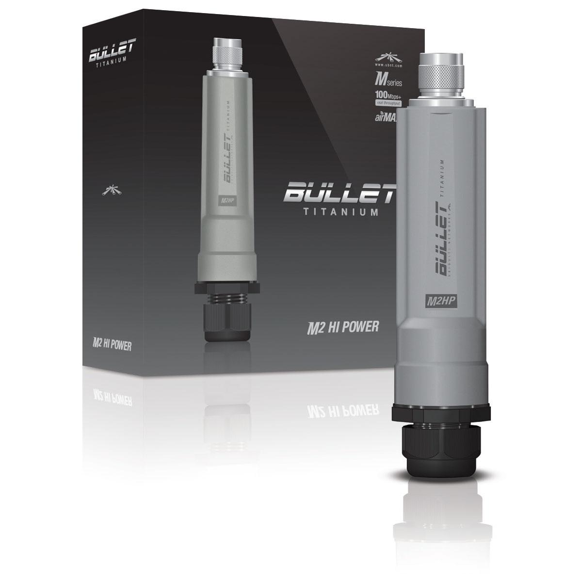 Ubiquiti bullet m2 titanium point d 39 acc s wifi ubiquiti for Repeteur wifi exterieur