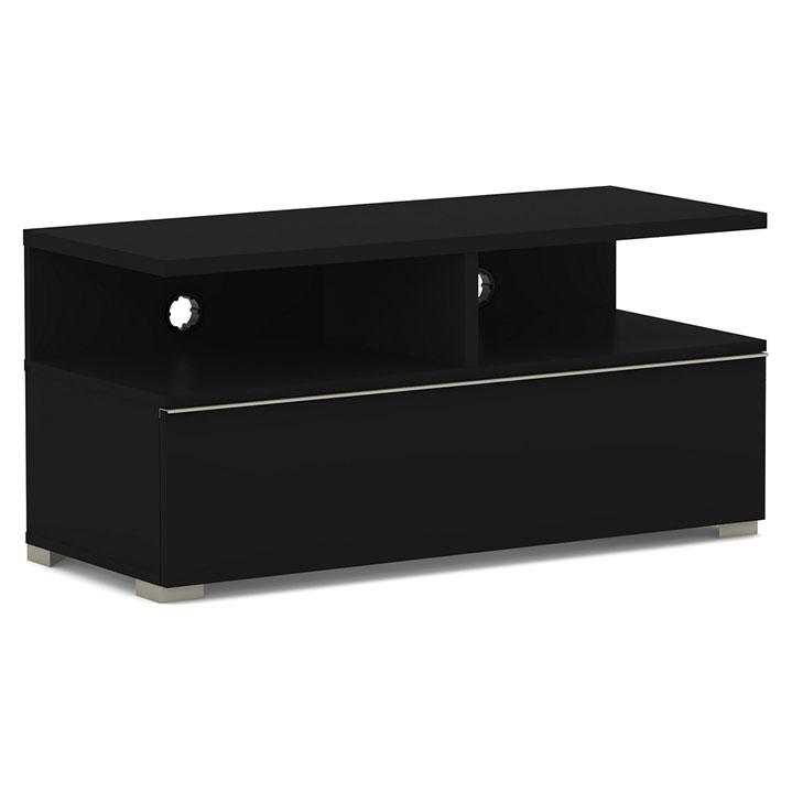 Elmob mensa me 110 04 noir meuble tv elmob sur ldlc - Meuble tv pour ecran plat ...