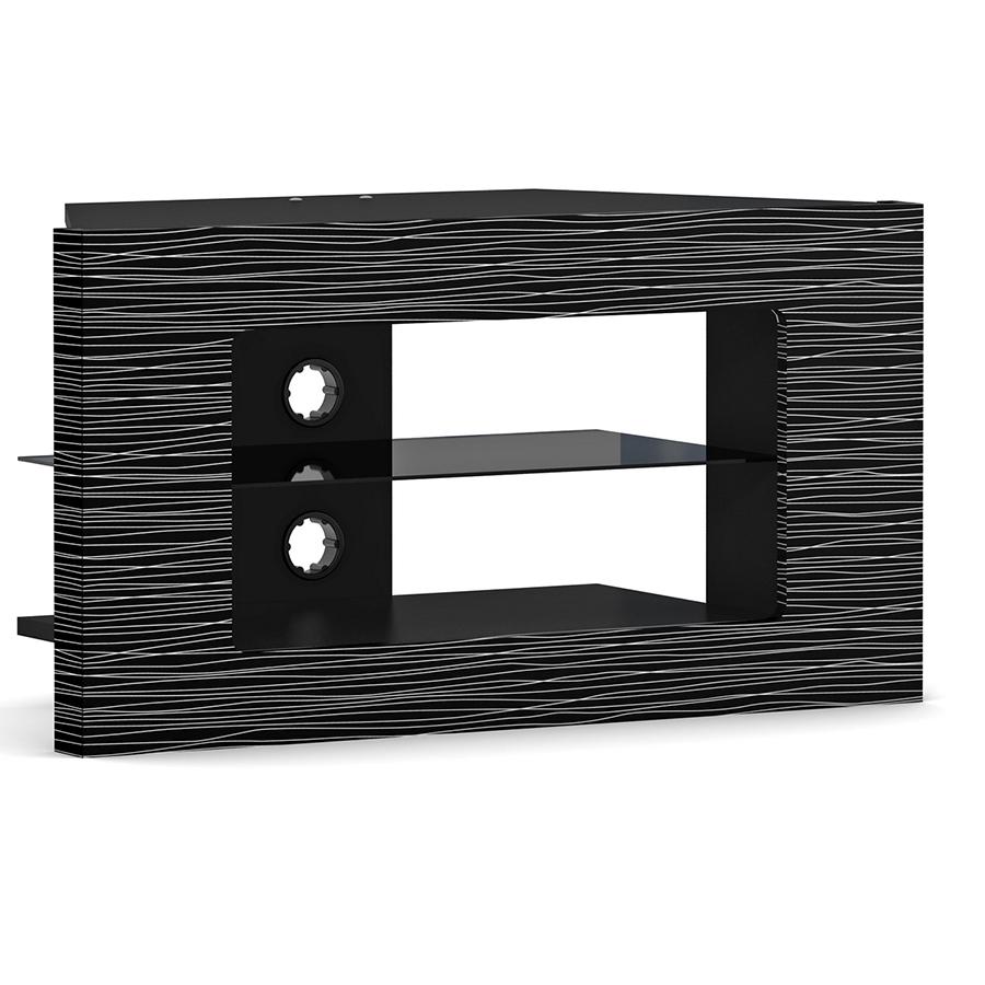 elmob linos li 090 01 noir meuble tv elmob sur ldlc. Black Bedroom Furniture Sets. Home Design Ideas