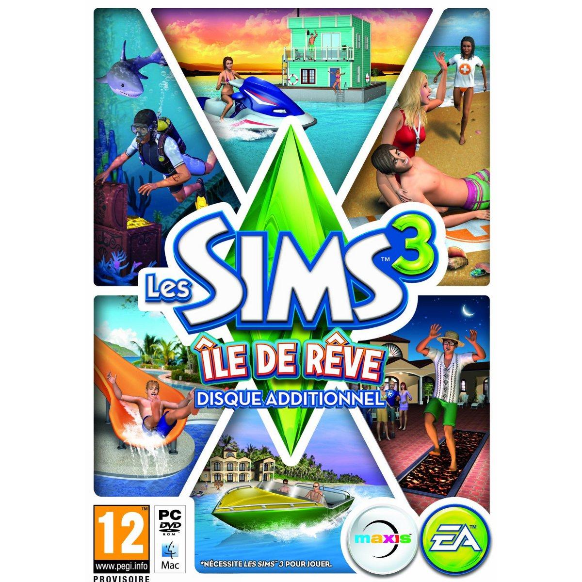 Jeux PC Les Sims 3 : île de rêve - Disque additionnel (PC) Les Sims 3 : île de rêve - Disque additionnel (PC)