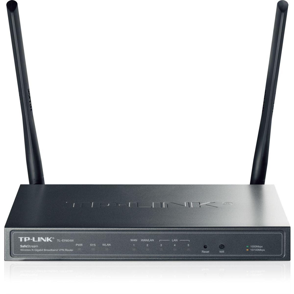 Modem & routeur TP-LINK SafeStream TL-ER604W Routeur sans fil VPN Wi-Fi N 300 Mbps avec 4 ports Gigabit